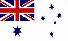 AUSTRALIA NAVY ENSIGN - MINI FLAG 22.5cm x 15cm